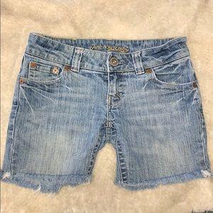 American Eagle boyfriend jean frayed shorts